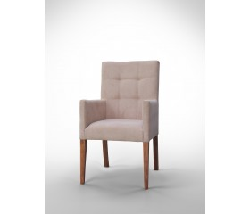 Fotel z pikowanym oparciem F0036