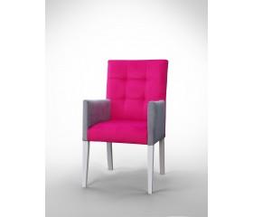 Fotel z dwóch różnych tkanin F0040