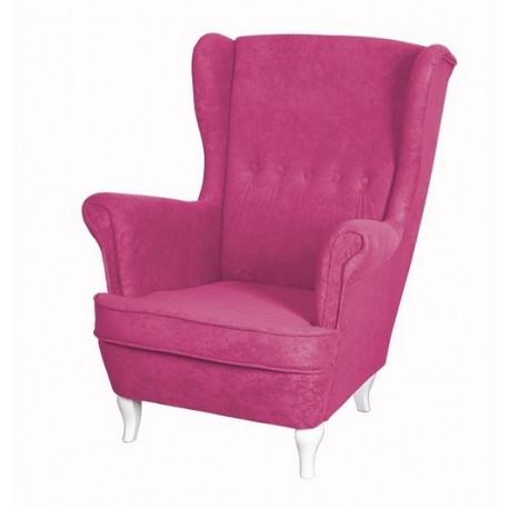 Purpurowy Fotel Uszak U003