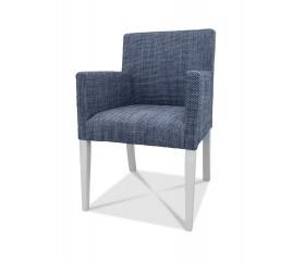 Fotel Tapicerowany z Tkaniny Plecionka F0001