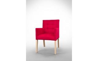 Fotel z pikowanym oparciem F0006
