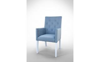 Fotel z pikowanym oparciem F0008