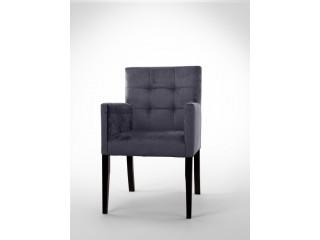 Fotel z pikowanym oparciem F0013